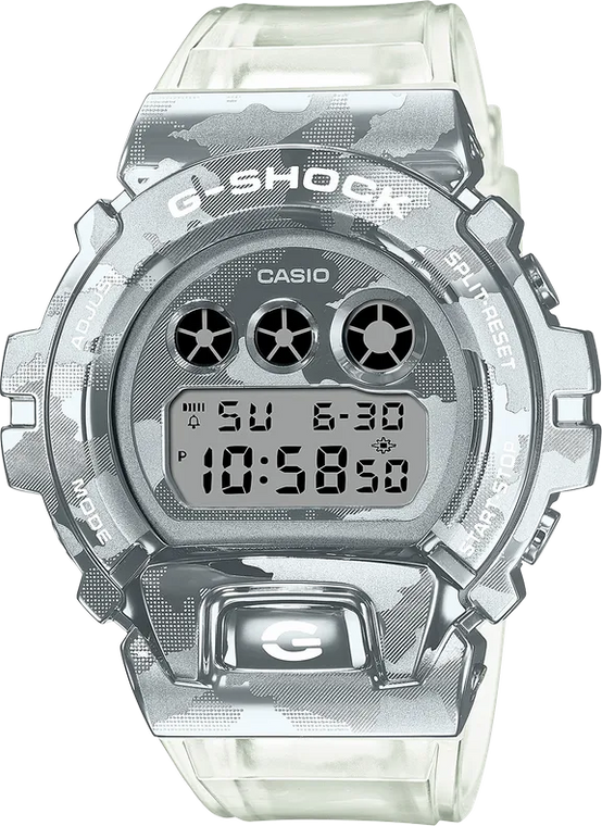 G-Shock GM6900SCM-1A Metal Covered 3-Eye Semi-Transparent Camouflage