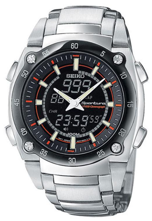 Seiko SNJ019 Sportura 1/1000 Chronograph // Pre-Owned