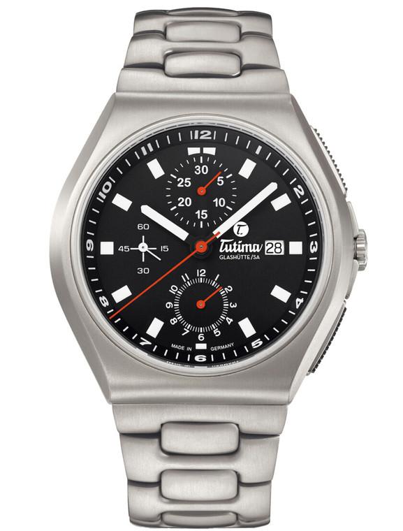 Tutima Glashutte 6430-02 M2 Coastline Chronograph Black Automatic