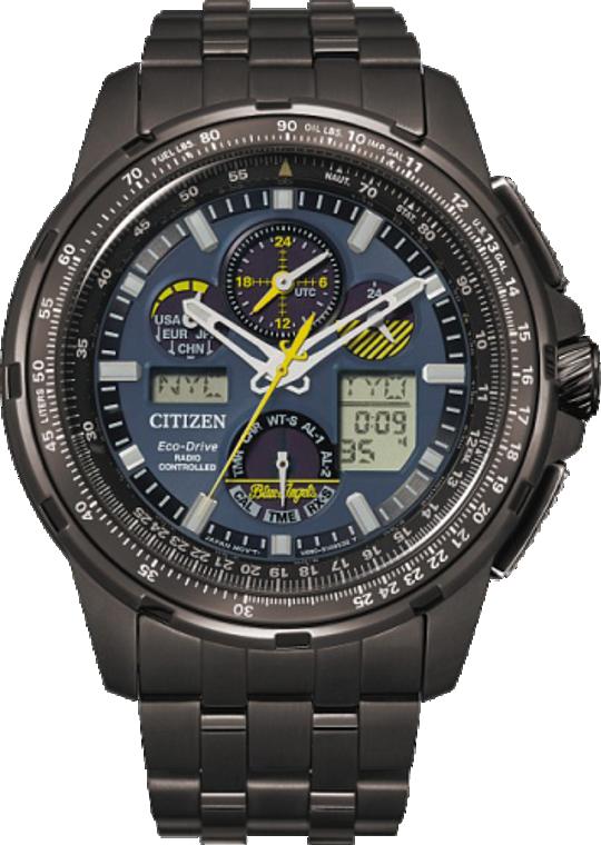 Citizen JY8097-58L Promaster Skyhawk A-T Blue Angels Stainless Steel