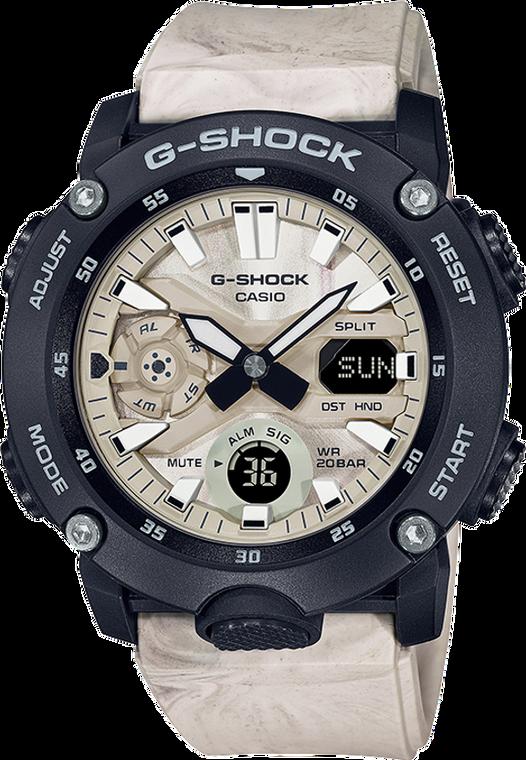 G-Shock GA2000WM-1A Utility Wave Marble Carbon Core Guard