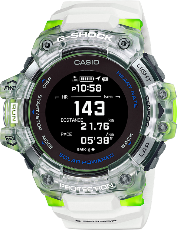 G-Shock GBDH1000-7A9 Move Heart Rate Monitor White Green