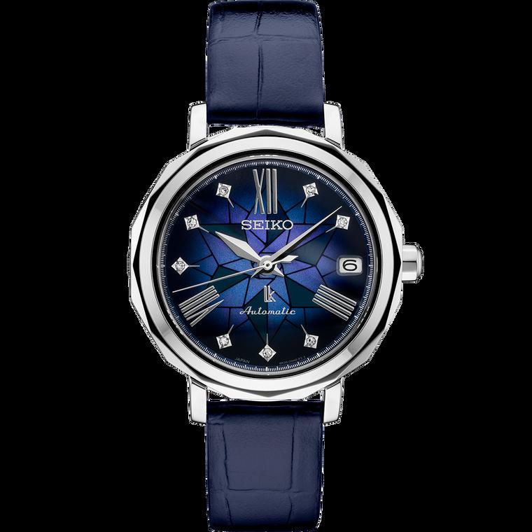 Seiko Lukia SPB137 Kurenai Blue with Diamonds Automatic