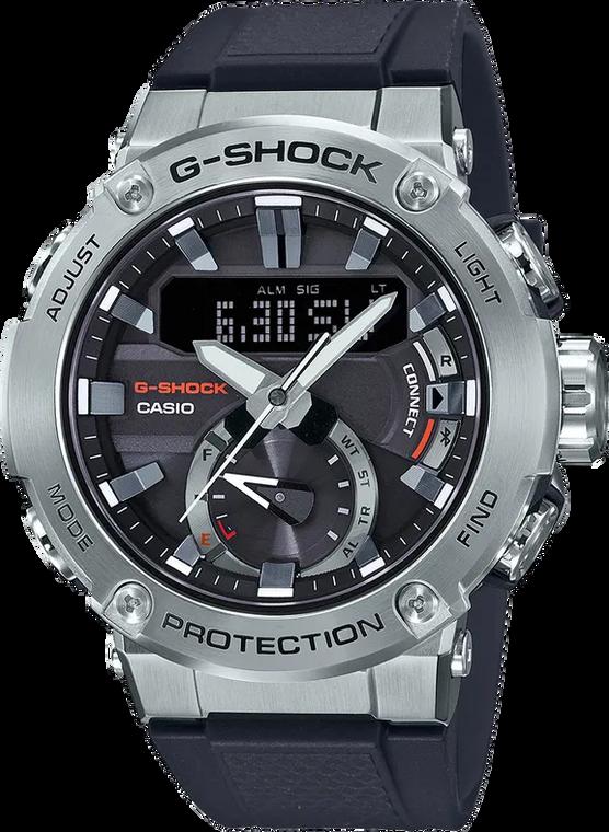 Casio G-Shock GST-B200-1A GSTEEL Bluetooth Solar Rubber