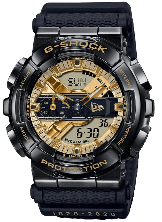 Casio G-Shock GM110NE-1A New Era Collaboration Gold Tone