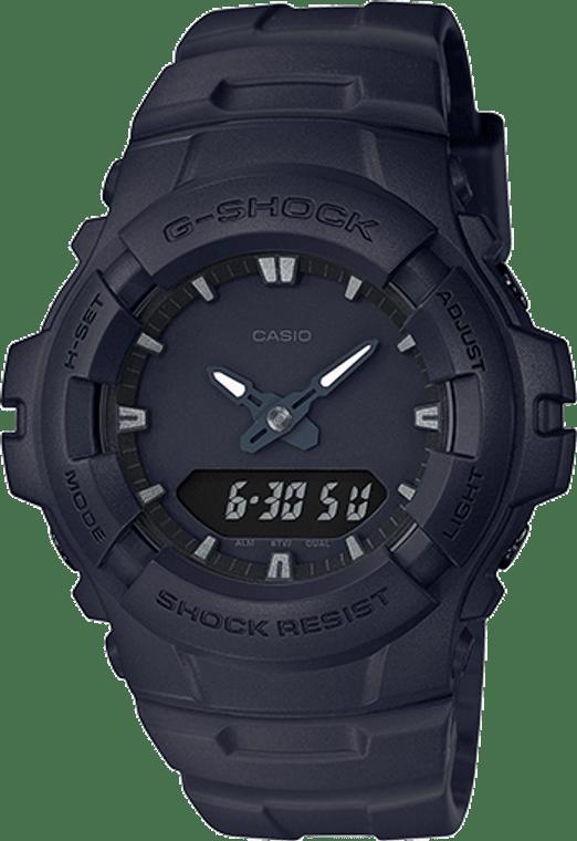 Casio G-Shock G100BB-1A Black Out One Tone