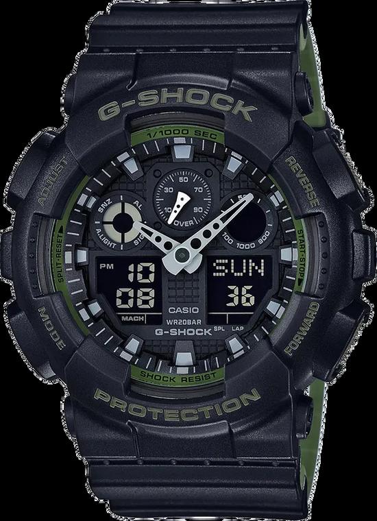 Casio G-Shock GA100L-1A Military Colored Ana-Digital