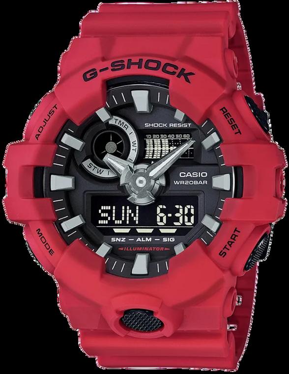 Casio G-Shock GA700-4A Analog-Digital Red