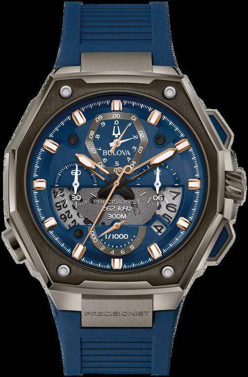 Bulova 98B347 Precisionist Split Second Chronograph Blue