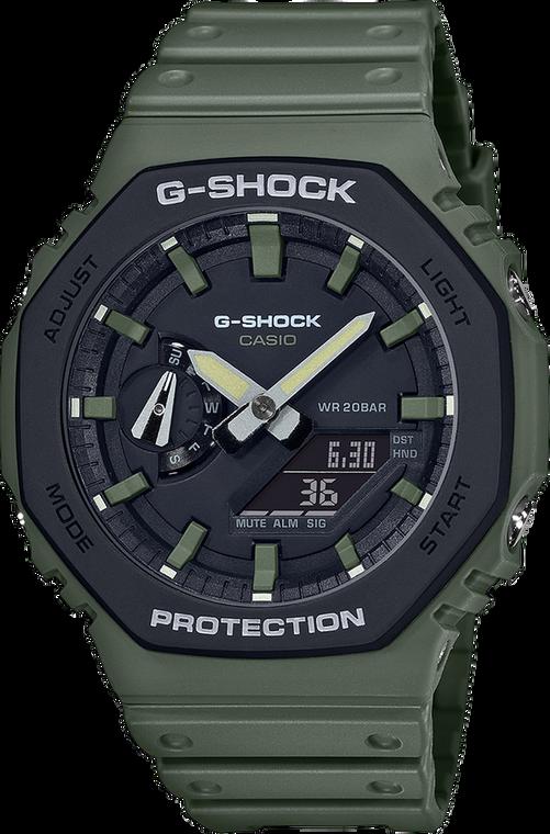 Casio G-Shock GA2110SU-3A Green Casioak Utility Color // Pre-Owned