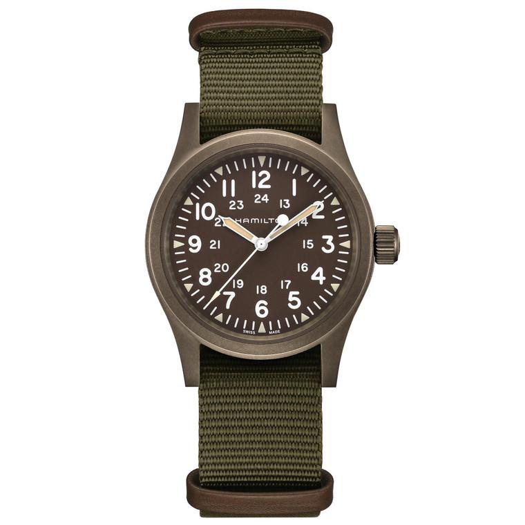 Hamilton H69449961 Khaki Mechanical Green Nato // Pre-Owned