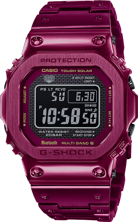 Casio G-Shock GMWB5000RD-4 Red Ion-Plated Full Metal 2Way Time Sync