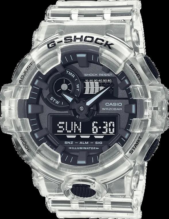 Casio G-Shock GA700SKE-7A Transparent Pack Skeleton