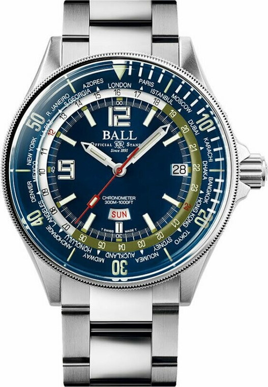 Ball DG2232A-SC-BE Engineer Master II Diver Worldtime 42mm