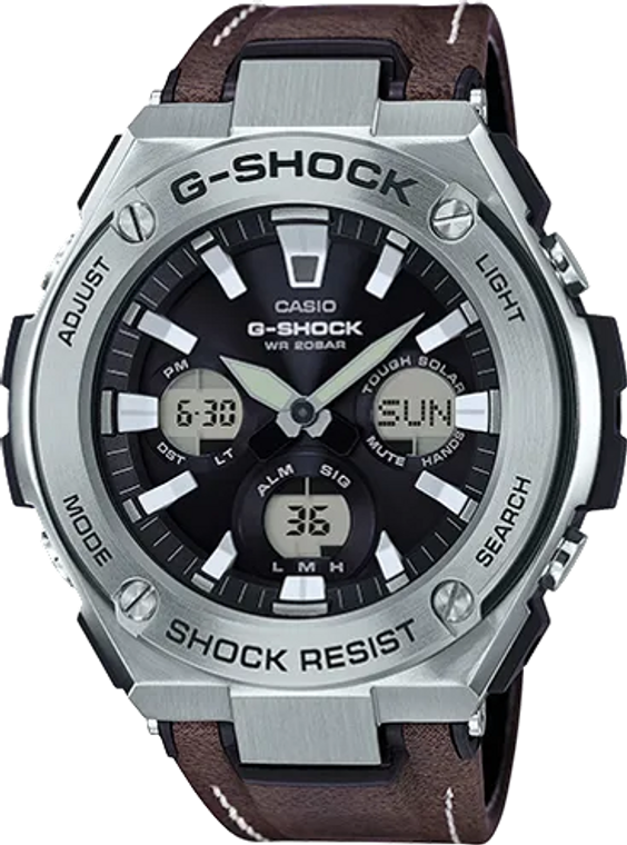 Casio G-Shock GSTS130L-1A G-STEEL Layer Guard Leather // Pre-Owned