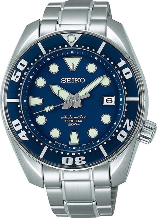 Seiko SBDC003 Sumo Scuba Air Diver Blue Dial on Rubber Strap // Pre-Owned