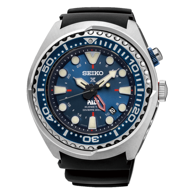 Seiko SUN065 Special Edition PADI Kinetic GMT // Pre-Owned