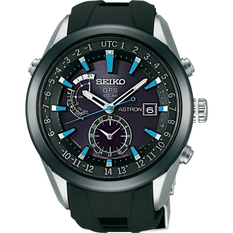Seiko Astron SAST009 GPS Solar Blue Indicies on Rubber // Pre-Owned
