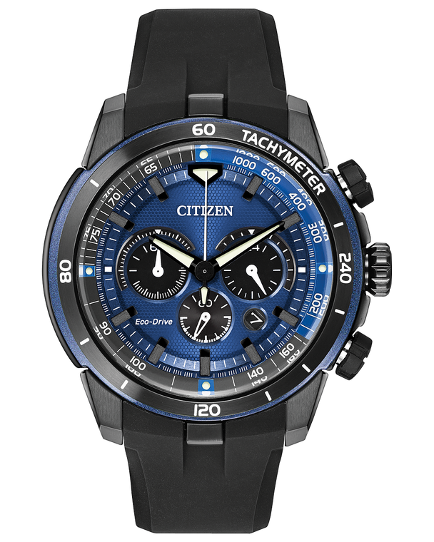 Citizen Eco-Drive CA4155-12L Ecosphere Blue Chronograph Solar // Pre-Owned