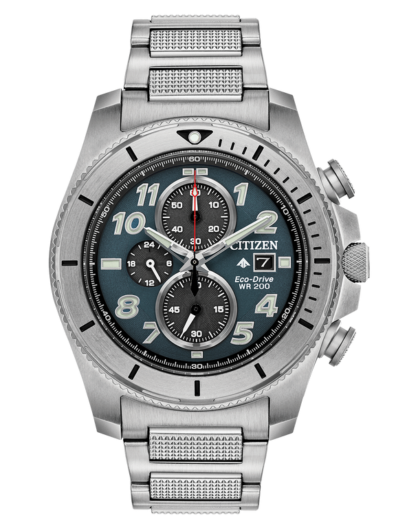 Citizen CA0720-54H Promaster Tough Eco-Drive Stainless Chronograph