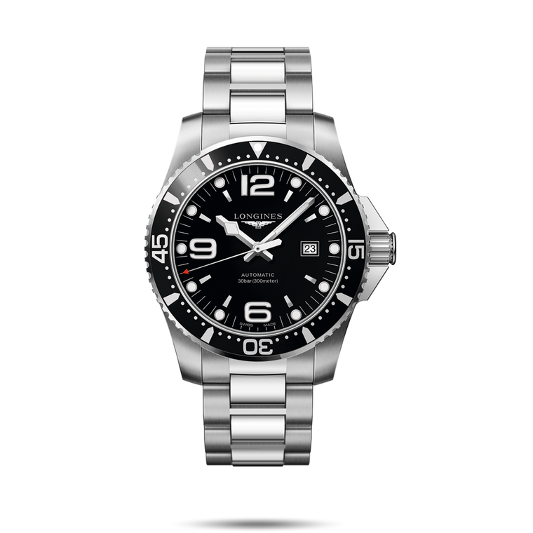 Longines L3.841.4.56.6 HydroConquest 30bar Automatic Black Dial // Pre-Owned