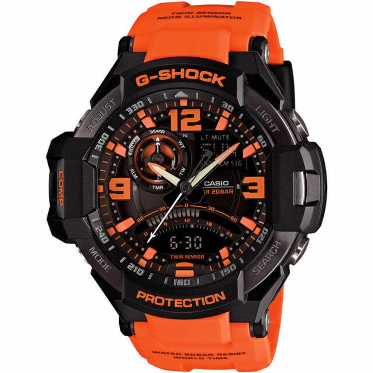 Casio G-Shock GA1000-4A Gravity Master Compass Orange // Pre-Owned