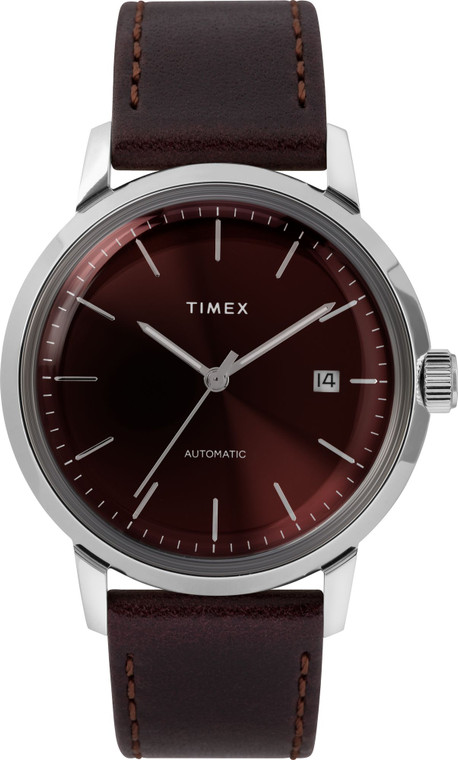 Timex TW2T23200ZV Marlin Burgundy Automatic // Pre-Owned