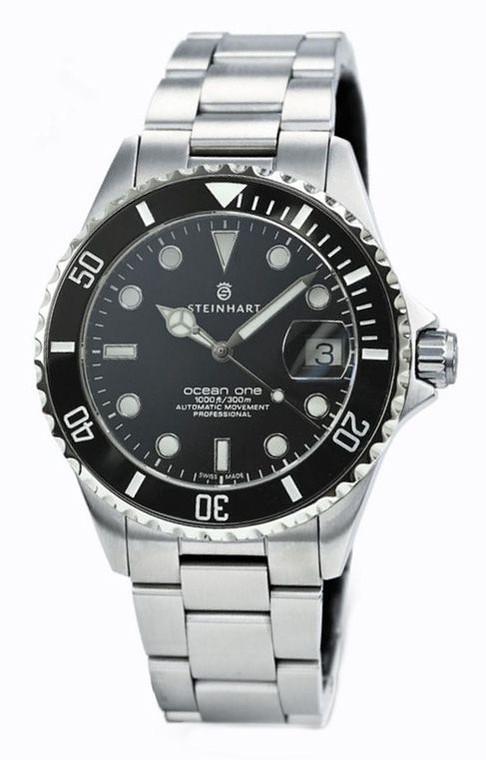 Steinhart 103-1079 Ocean One Black Ceramic Automatic // Pre-Owned