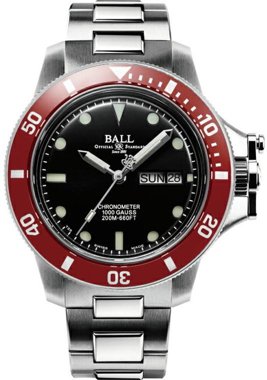 Ball DM2118B-S2CJ-BK Engineer Hydrocarbon Chronometer 40mm Red Bezel