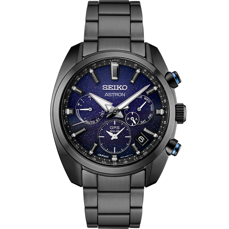 Seiko Astron SSH077 Blue Nebula GPS Solar Stainless Steel