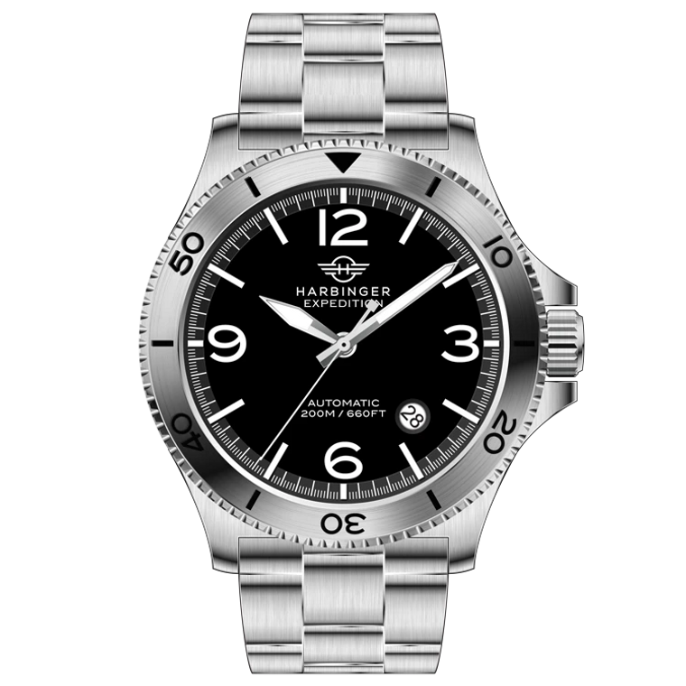 Harbinger EX1 Expedition Coal Automatic Desert Storm Stainless