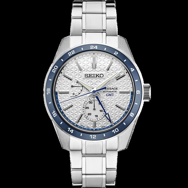 Seiko Presage SPB223 Limited Edition Sharp Edge GMT Wave of Seiko Blue