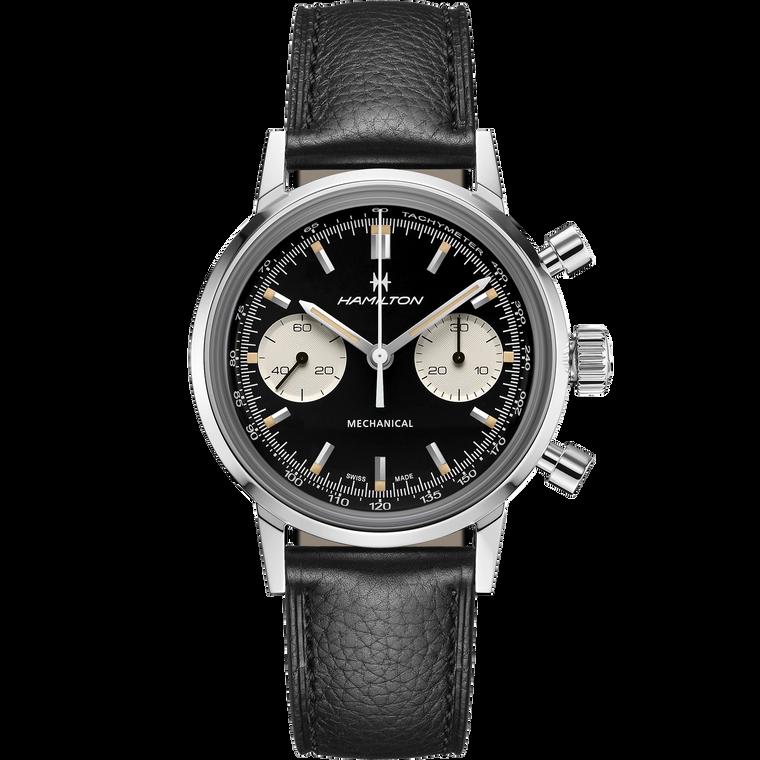 Hamilton H38429730 Intramatic Mechanical Chronograph Black Dial