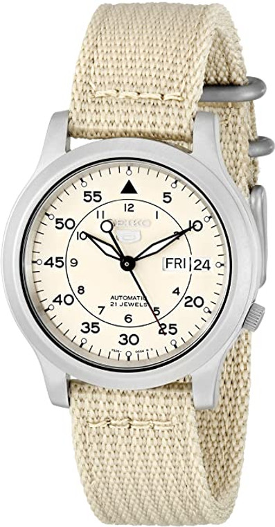 Seiko 5 Sports SNK803 Beige Automatic Canvas Strap // Pre-Owned