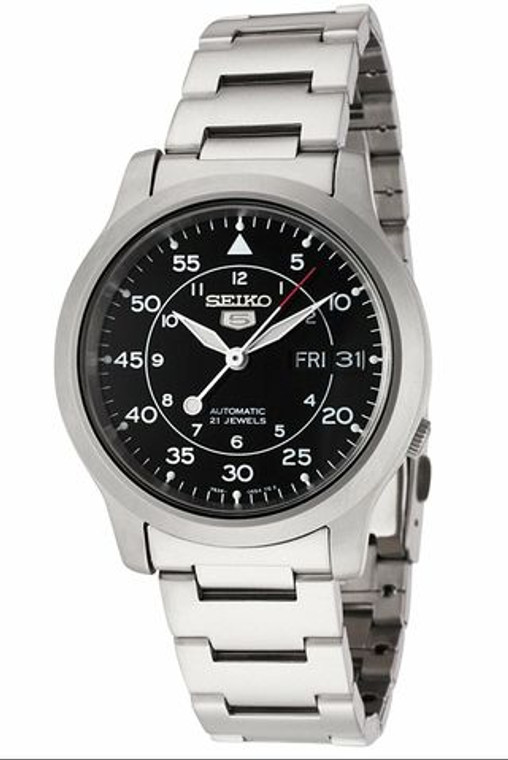 Seiko 5 Sports SNK809 Black Dial Automatic Metal Bracelet // Pre-Owned