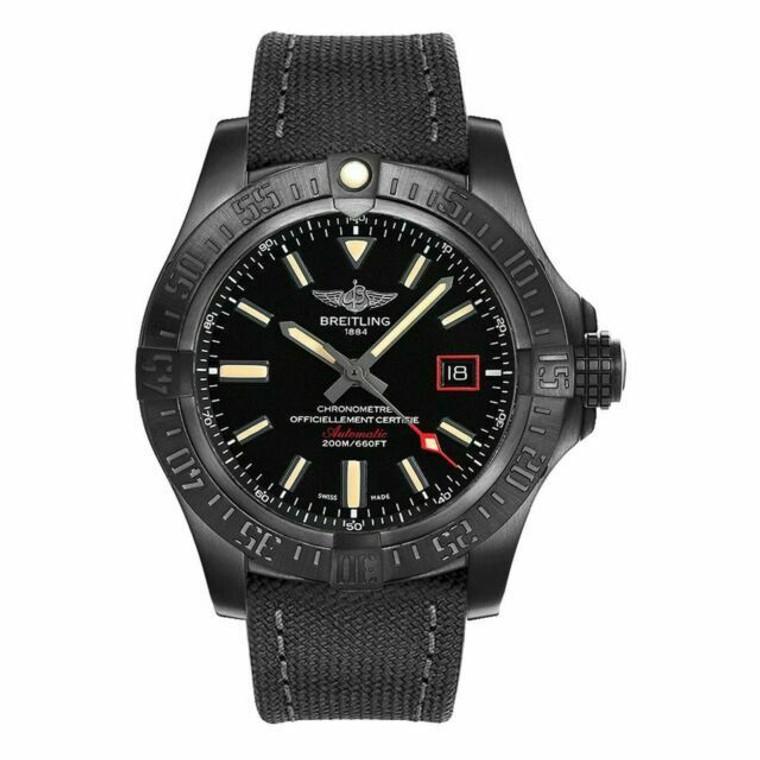 Breitling V17311101B1W1 Avenger Blackbird Automatic Black Dial 44mm  // Pre-Owned