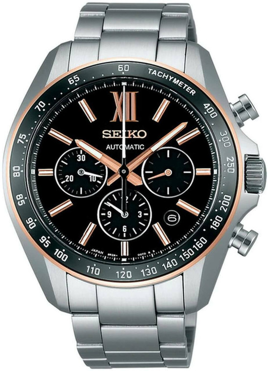 Seiko SDGZ006 Brightz Automatic Chronograph Black Dial