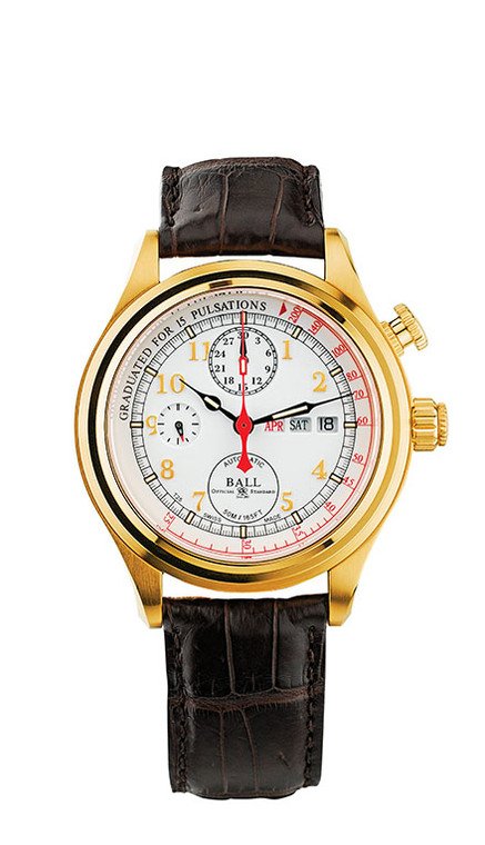 Ball CM1032D-GO-L1J-WH Trainmaster Doctor's Chronograph