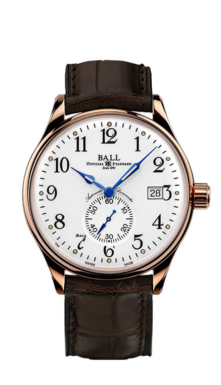 Ball NM3888D-PG-LCJ-WH Trainmaster 18k Rose Gold Standard Time