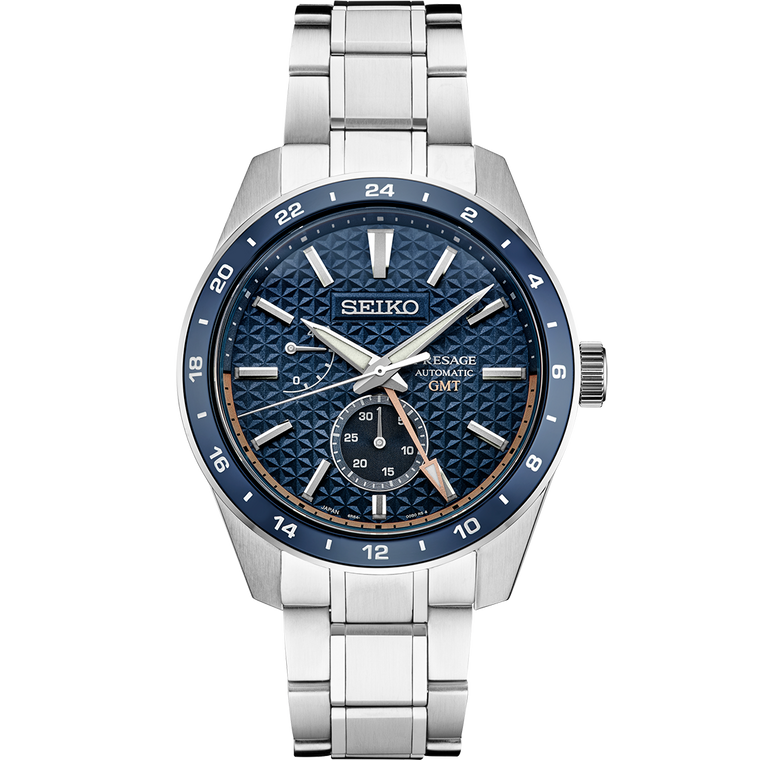 Seiko Presage SPB217 Sharp Edge GMT Blue