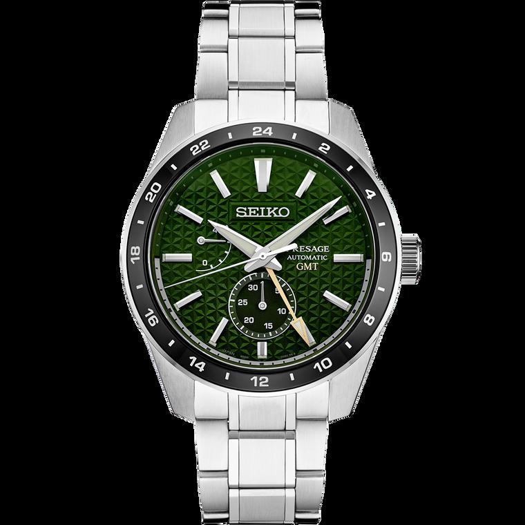 Seiko Presage SPB219 Sharp Edge GMT Green