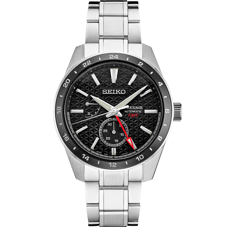 Seiko Presage SPB221 Sharp Edge GMT Black