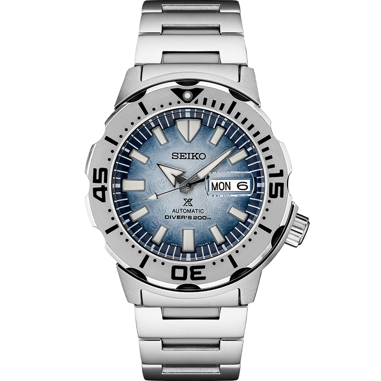 Seiko Prospex SRPG57 Limited Edition Save the Ocean Frost Dial Monster
