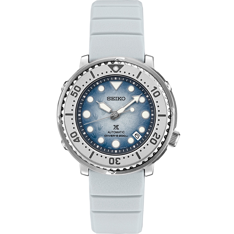 Seiko Prospex SRPG59 Limited Edition Save the Ocean Frost Dial Tuna