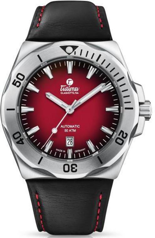 Tutima 6155-07 M2 Seven Seas S Stainless Steel 44mm Red Steel