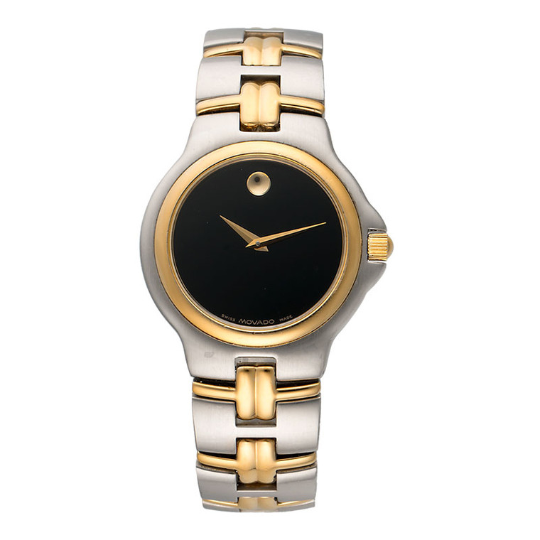 Movado 81.E2.887.2 Museum Two Tone Stainless Gold Plated // Pre-Owned