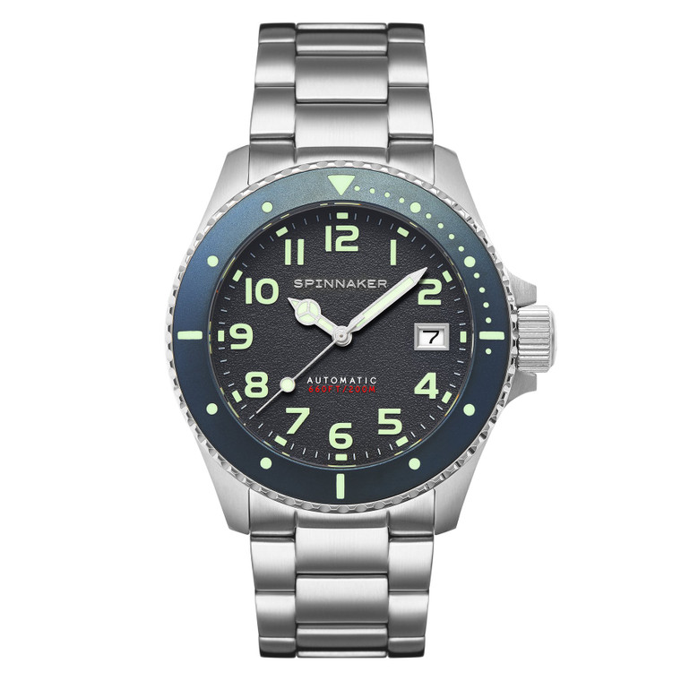 Spinnaker Hunley SP-5080-44 Cool Grey Dive Watch // Pre-Owned