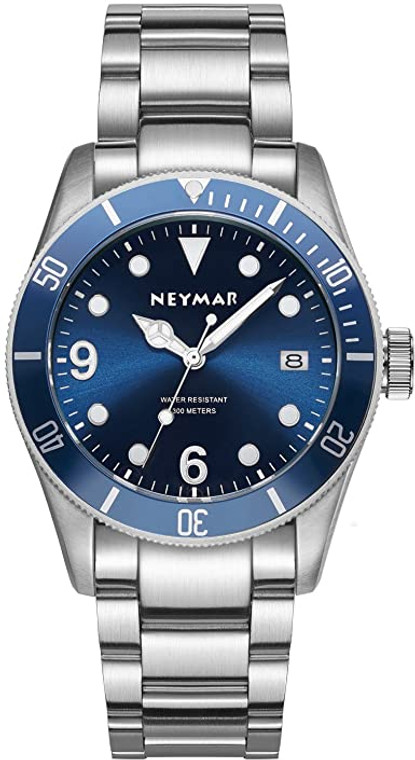 Neymar 11588885 Blue Dial Stainless Steel 200 Sapphire Crystal // Pre-Owned