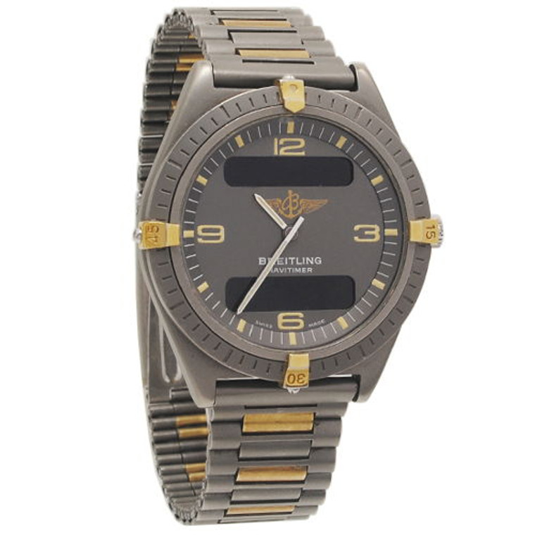 Breitling 80360 Aerospace 1985 Titanium Recently Serviced // Pre-Owned