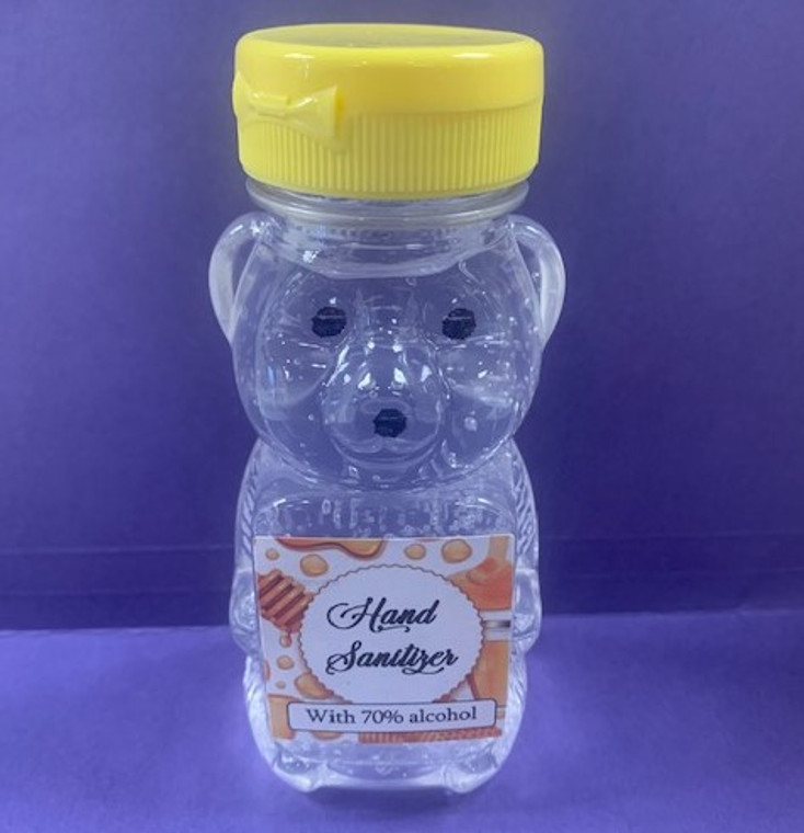 Body Med Hand Sanitizer Gel (Bear Edition) - 6 oz Flip-Top -70% Alcohol